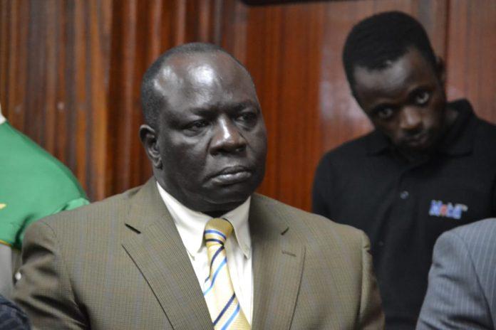 Former Makadara MP Reuben Ndolo in court || Prudence Wanza