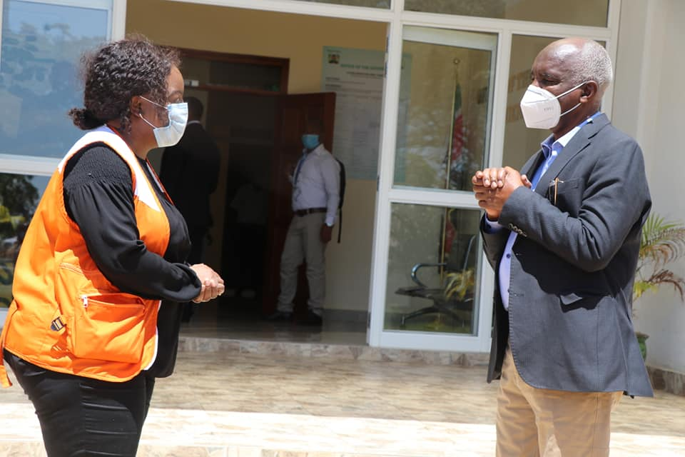 Governor Kivutha Kibwana with World vision national director Lilian Dodzo